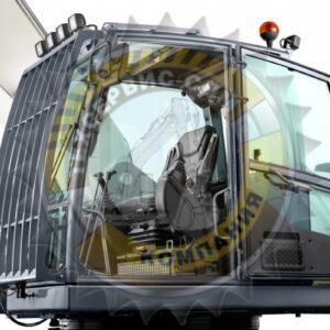 Защита лобового стекла экскаватора
